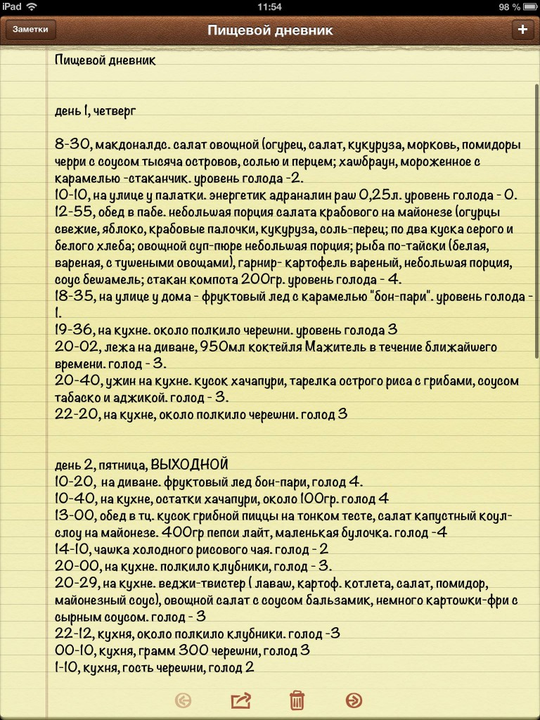 меню питания от диетолога ксении селезневой