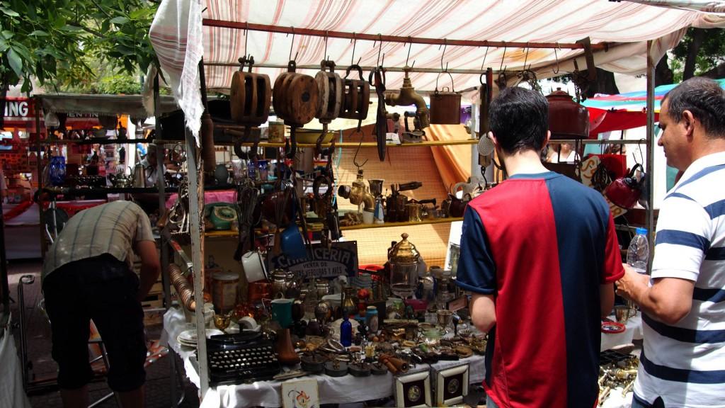 Сан Тельмо - блошиный рынок