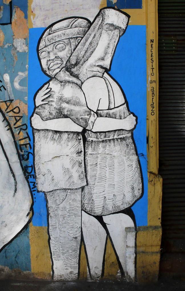 Граффити - чемамюль и моаи.