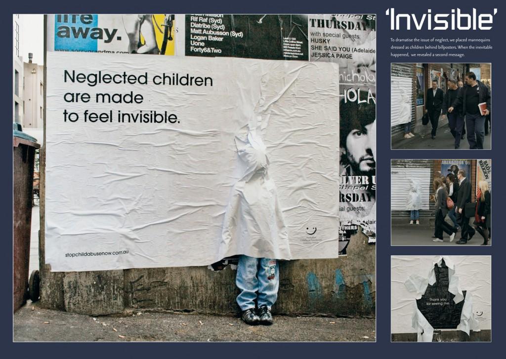 Брошенные дети хотят стать невидимыми