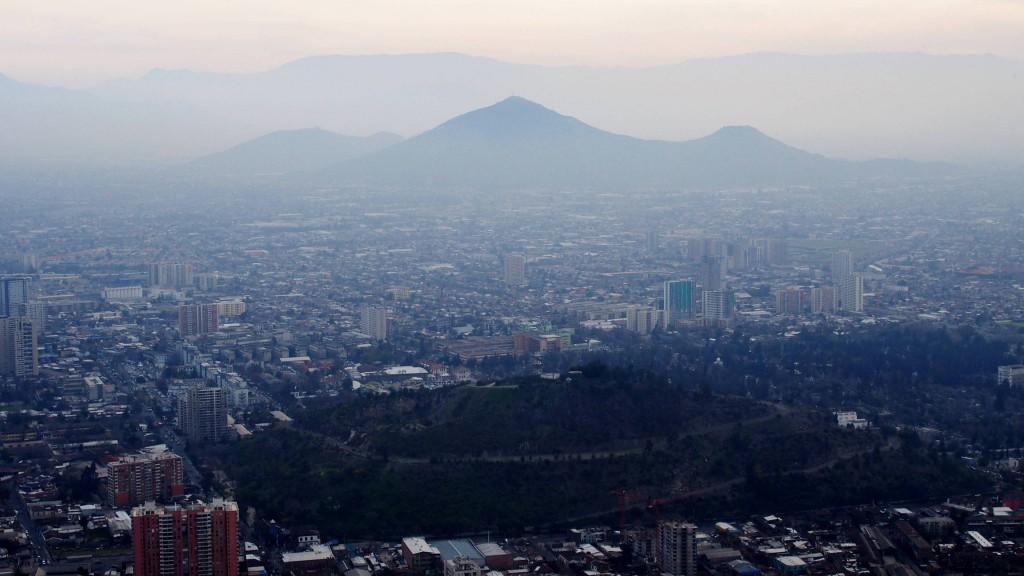 Холмы Сантьяго с холма Сан Кристобаль