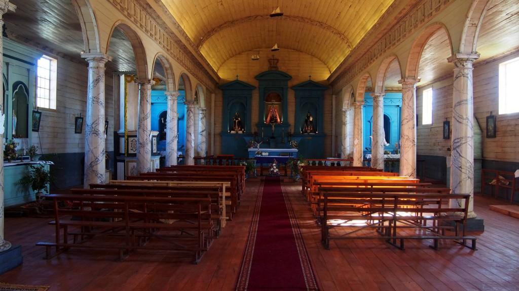 Церковь в Нерконе - интерьер