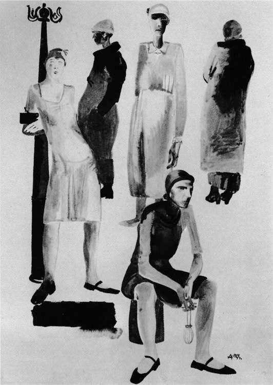А.Дейнека. Современная женщина (1929)