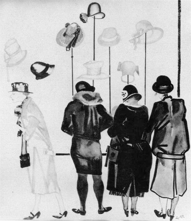 А.Дейнека. Тоска по изящной жизни (1927). Желание носить шелковые чулки и платья, красить ногти и делать завивку волос, как видно из анкет, проявляли и отдельные комсомолки. Но с этими желаниями нужно было проводить работу на комсомольских собраниях.