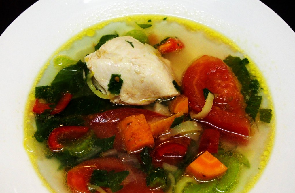 Ароматный суп из курицы с овощами